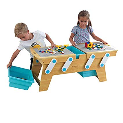 KidKraft Building Bricks Play N Store Table - Lego Tables with Storage