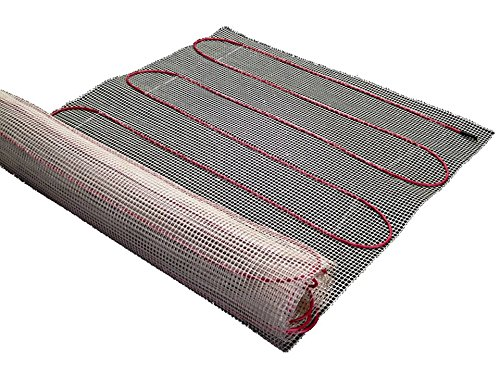 25sqft Mat, Warming Systems 120V Electric Tile Radiant Floor Heating Mat with Programmable Thermostat