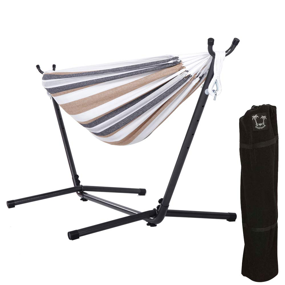 ONCLOUD Double Hammock with 9ft Stand Space Saving Carrying case
