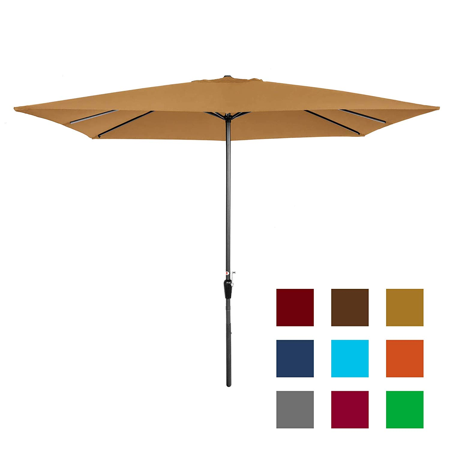 Best Choice Products 8 by 11Ft Rectangular Patio Market Umbrella