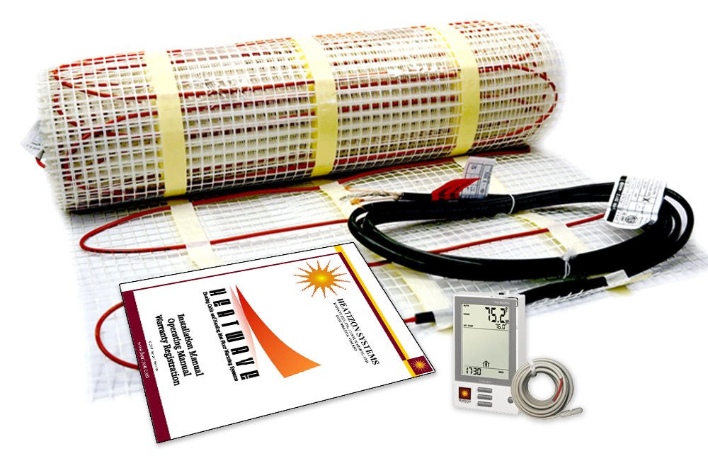 25sqft Electric Floor Heating System with Required GFCI Programmable Thermostat 120V