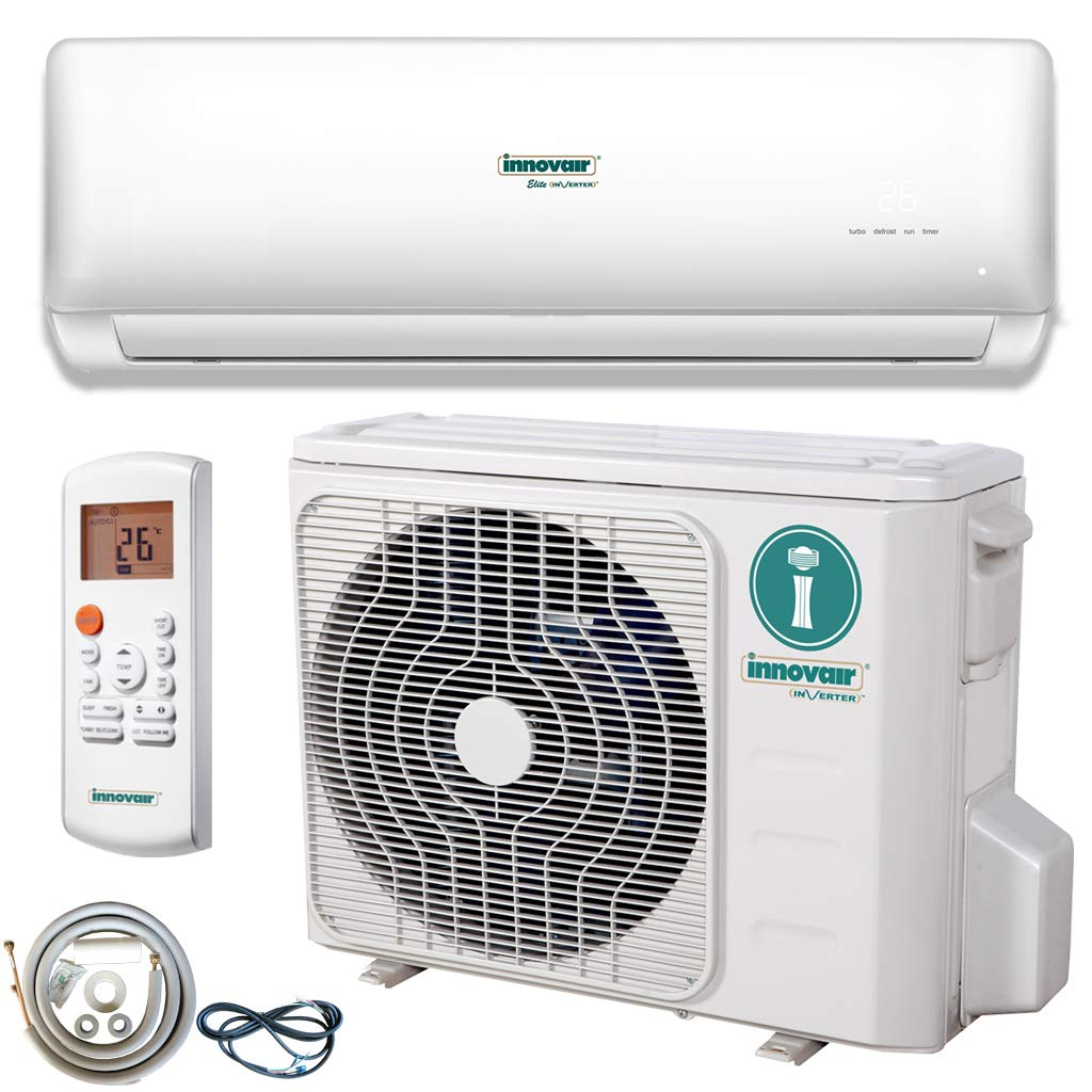 Innovair Air Conditioner Inverter Ductless Wall Mount Mini Split System Heat Pump Full Set with Kit