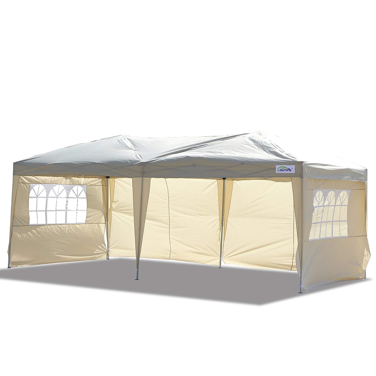 Goutime 10 by 20 Ft Ez Pop up Canopy Tent