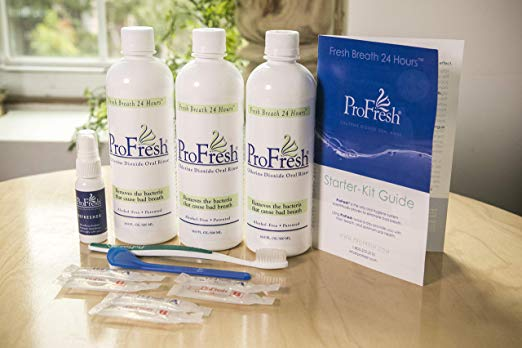 ProFresh BreathCare System Starter Kit, 6-Week Supply, Chlorine Dioxide Mouthwash-Oral Rinse.