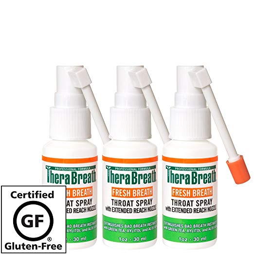 TheraBreath Fresh Breath Throat Spray, 1 Ounce Bottle (Pack of 3)