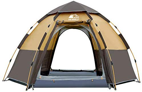 Hewolf Waterproof Instant Tents for Camping - 2-4 Person Easy Quick Setup Dome Pop up Family Tent