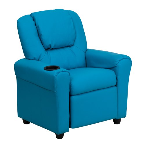 Flash Furniture Contemporary Turquoise Vinyl Kids Recliner