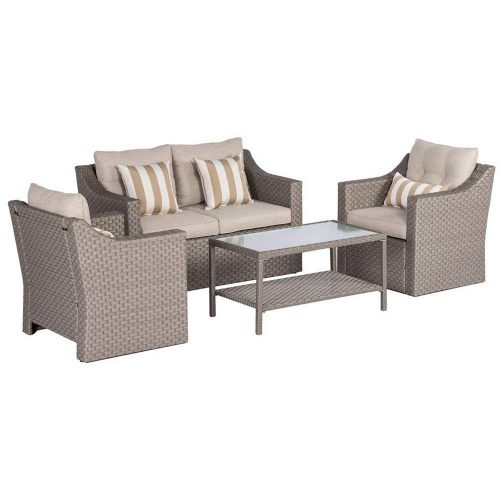SOLAURA Outdoor Patio Furniture Set 4-Piece