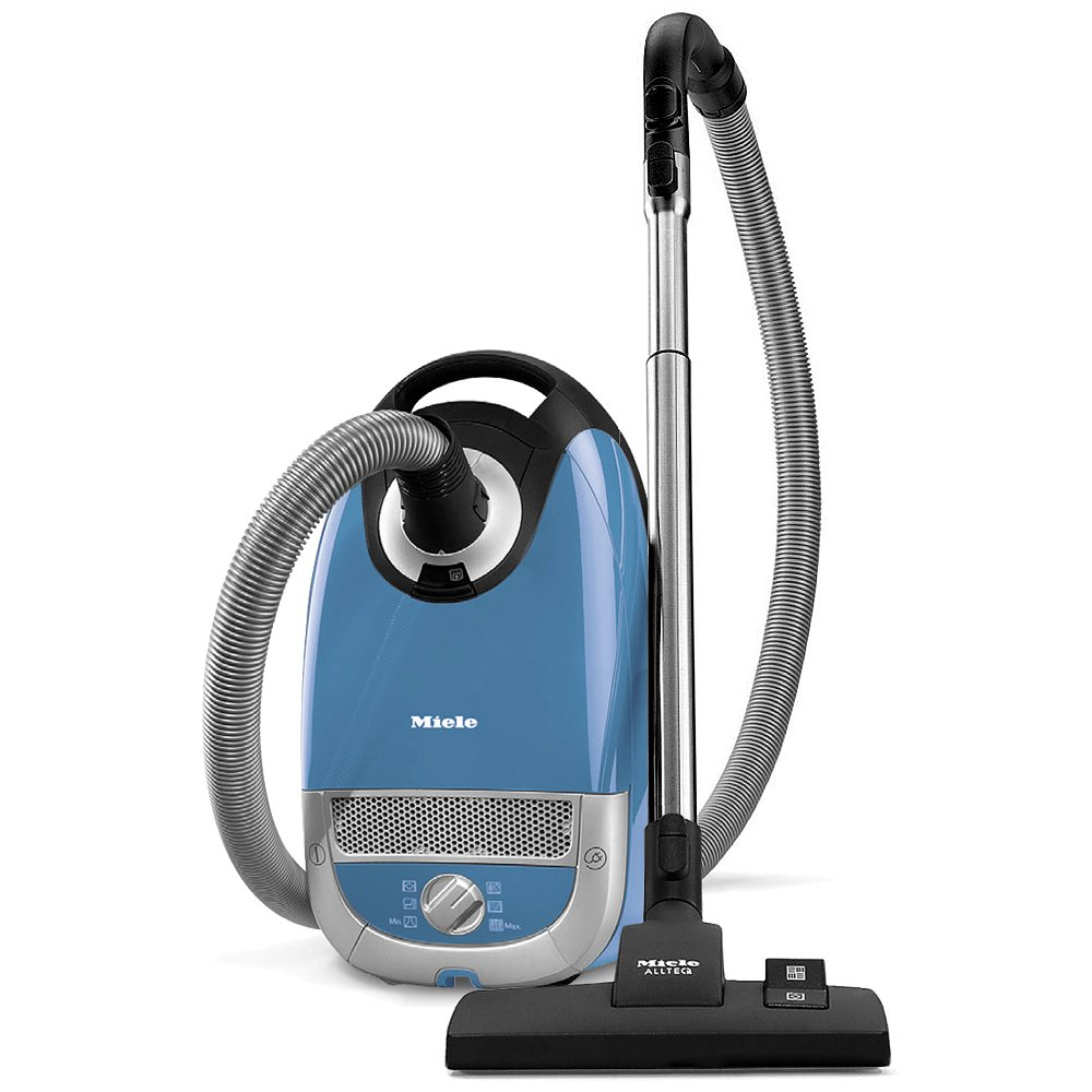 Miele Complete C2 Hard Floor Canister Vacuum Cleaner with SBD285-3 Combination Rug and Floor Tool + SBB400-3 Parquet Twister XL Floor Brush