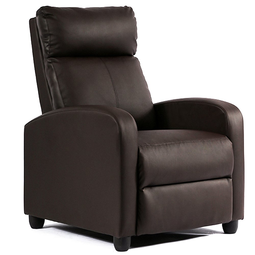 Single Reclining Sofa Leather Chair