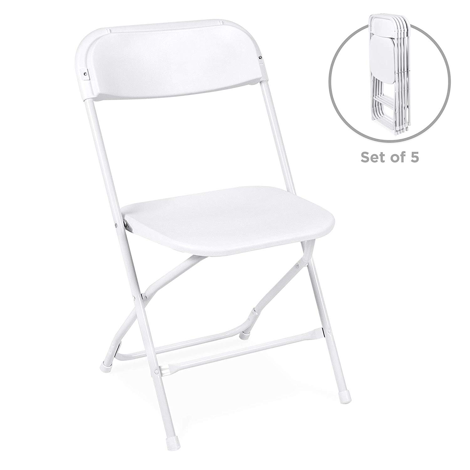 Best Choice Products Indoor Outdoor Portable Stackable Lightweight Plastic Folding Chairs