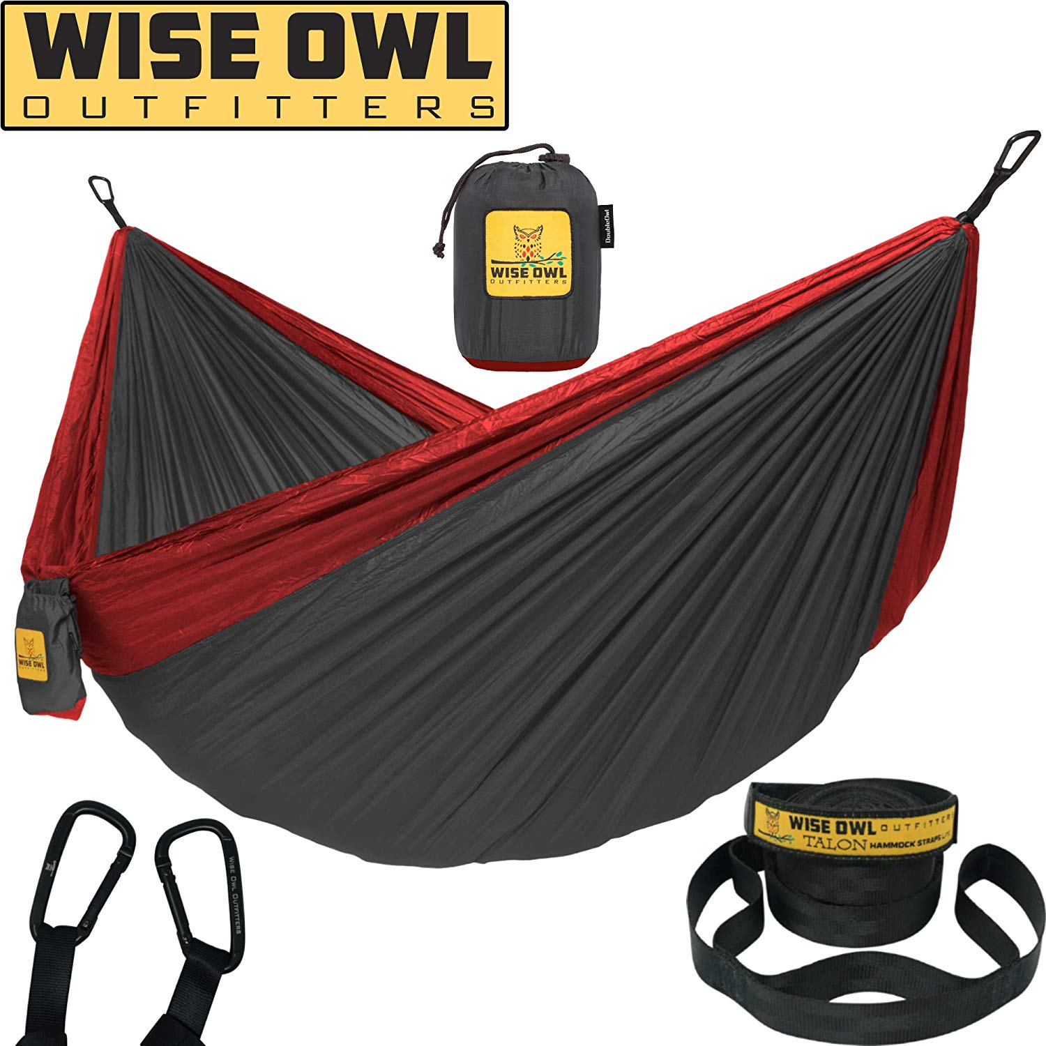 Wise Owl Outfitters Camping Double & Single with Tree Straps