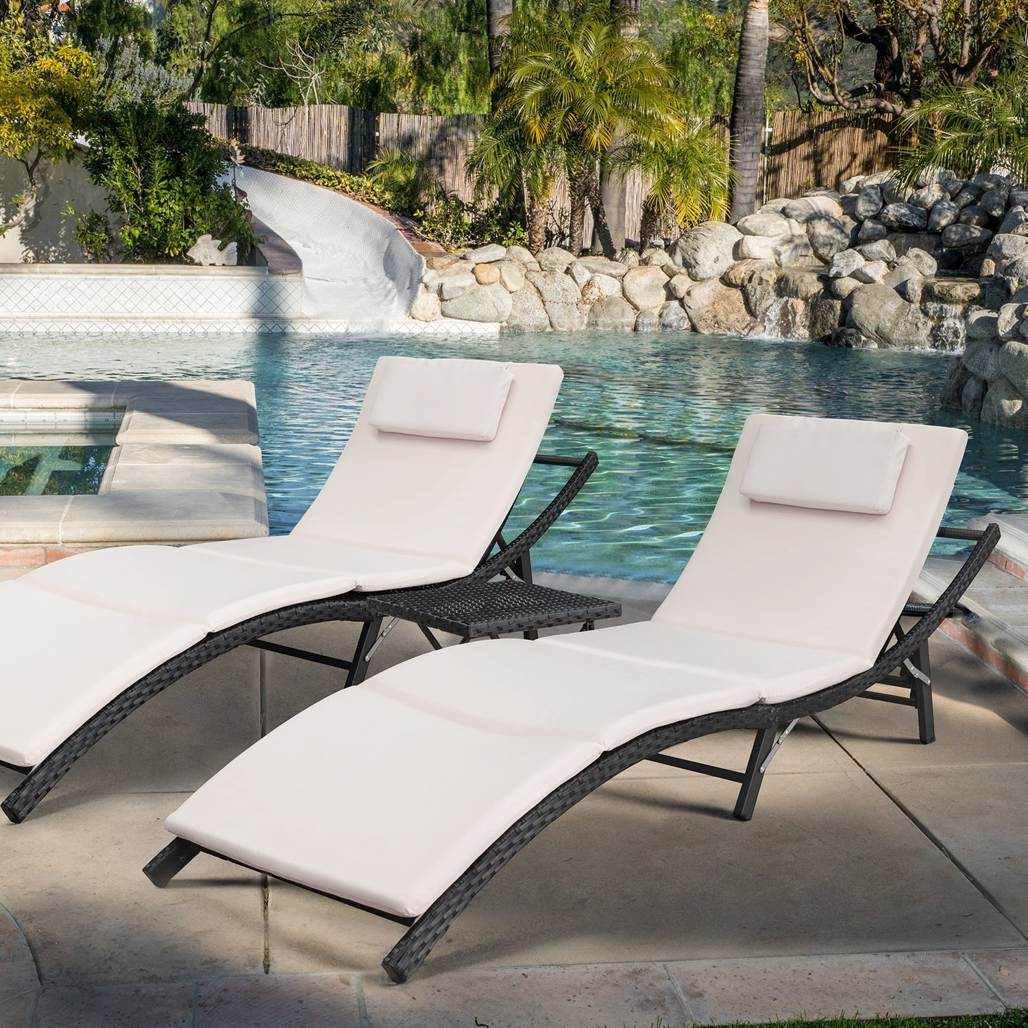 Devoko Patio Chaise Lounge