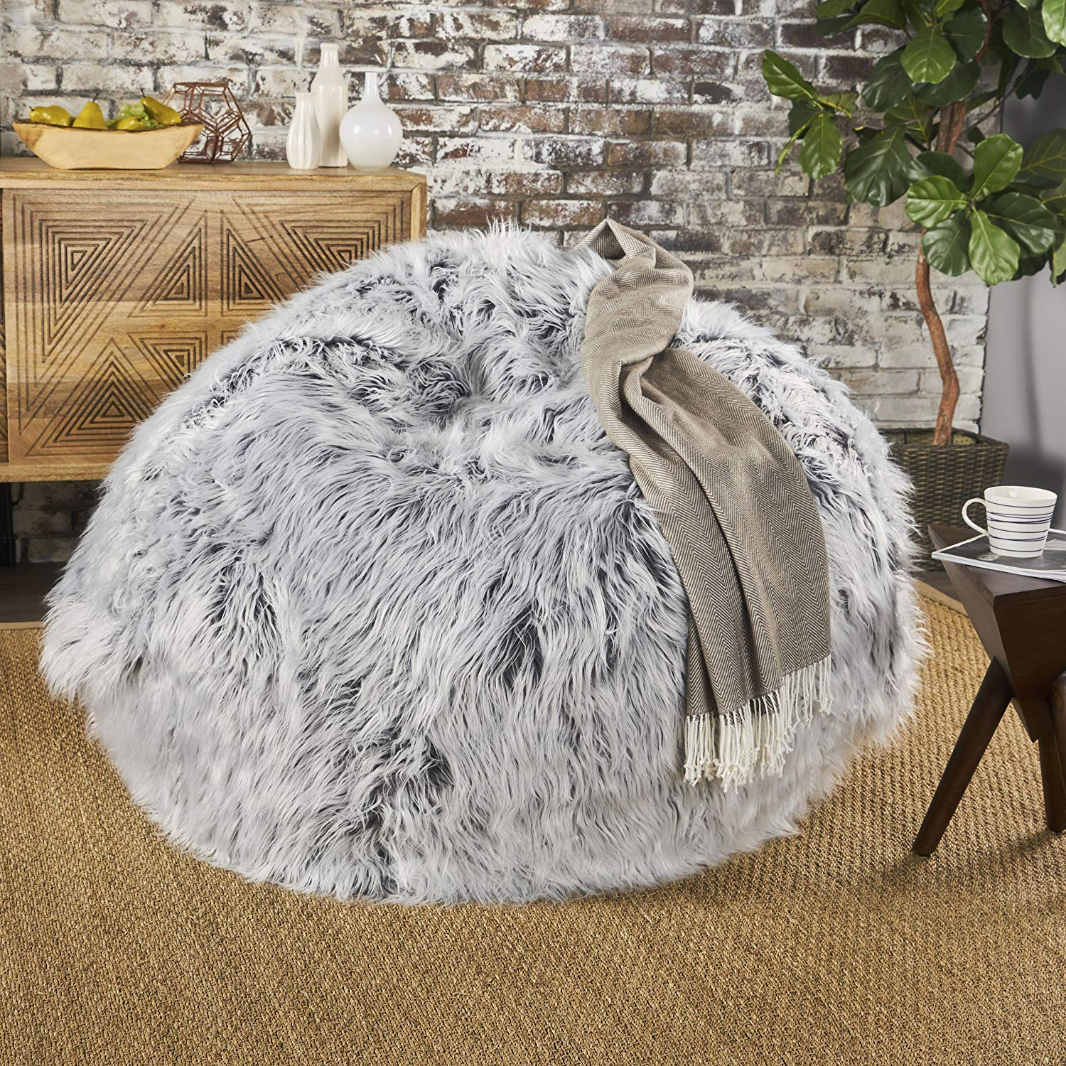 GDF Studio 301706 Lycus Faux Fur Bean Bag chair