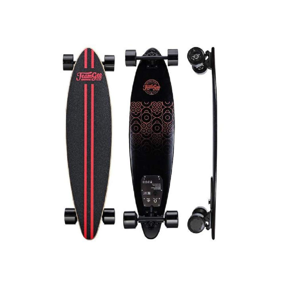 """Teamgee H6 37"""" Electric Skateboard/Longboard with Remote Control, Premium Classic Pintail, 18.6 MPH Top Speed, 760W Dual Motor, 11 Mile Range, Weighs just 13.7 LBS, UL Certification:E503354"""