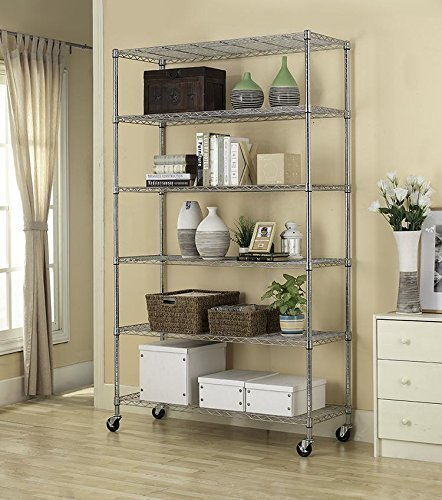 """82""""x48""""x18"""" Commercial 6 Tier Adjustable Wire Shelving"""