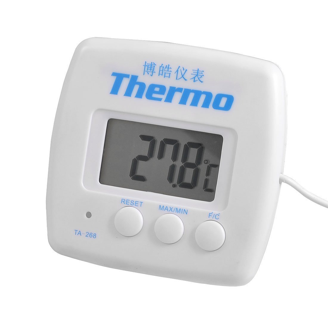 uxcell LCD Display Resettable Refrigerator Freezer Digital Thermometer