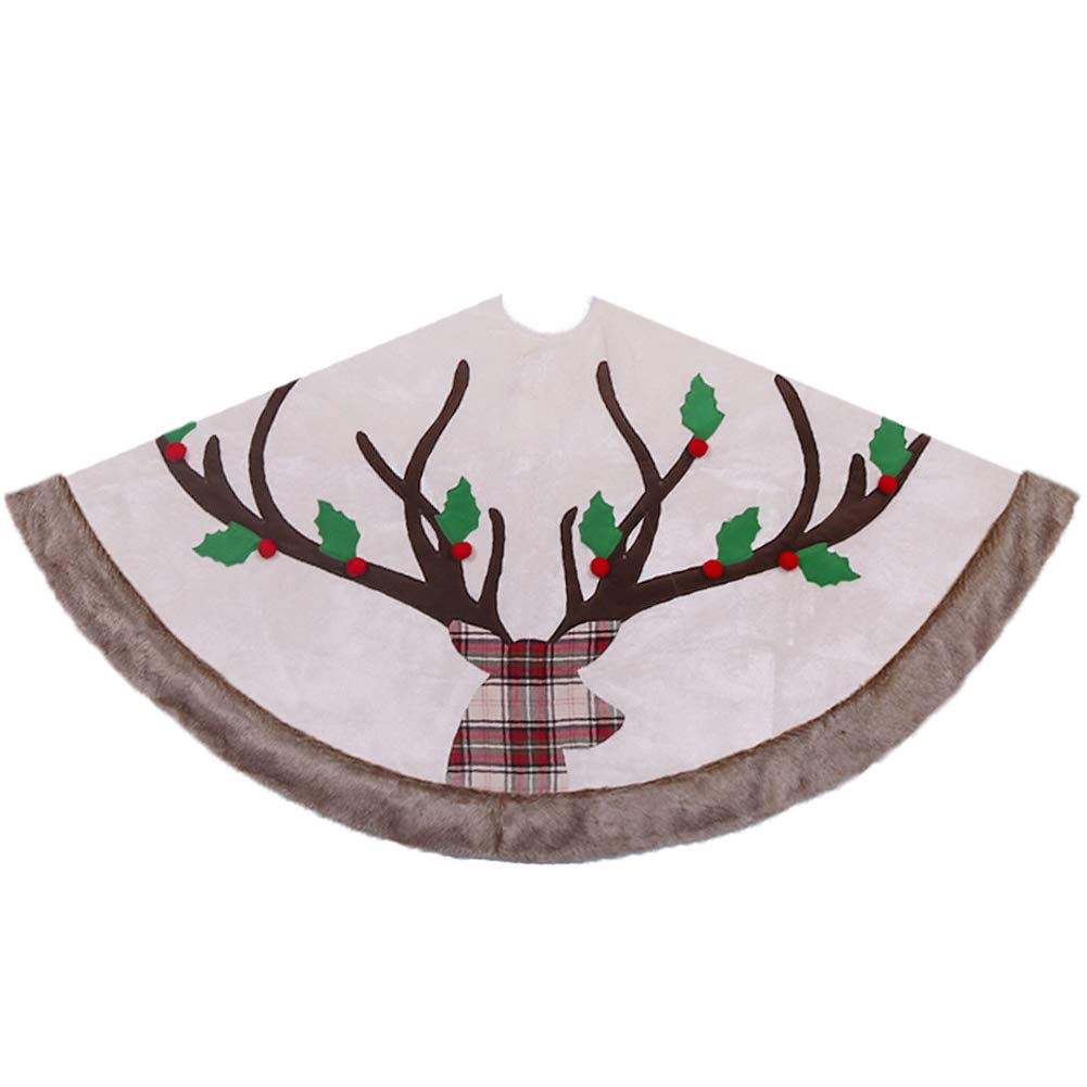 Valery Madelyn 48 inch Pre-lit Woodland Christmas Tree Skirt