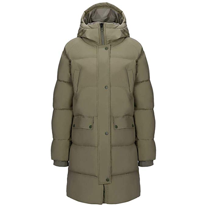 CAMEL Women Puffer Long Coat Thickened Hooded Jacket