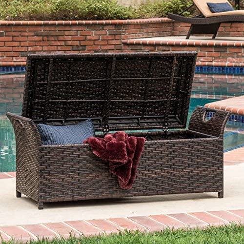 Christopher Knight Home Wing Wicker Storage Bench
