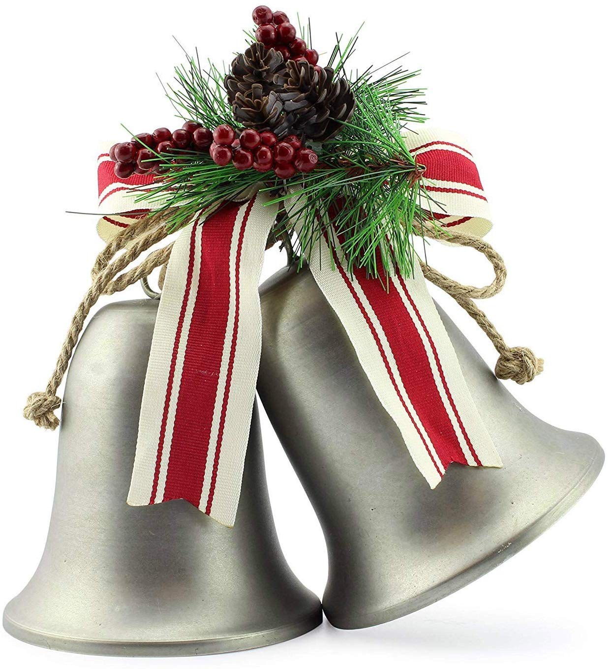 AuldHome Wall Hanging Silver Bells