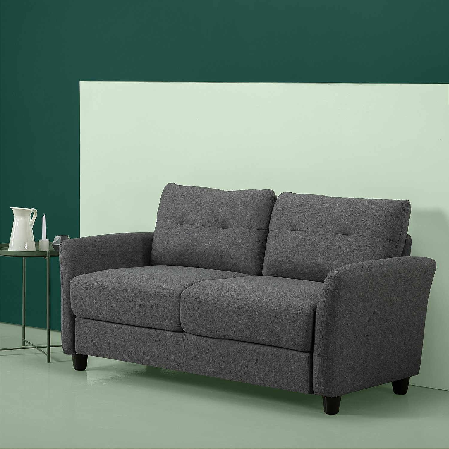 Zinus Ricardo Contemporary Upholstered 62.2 Inch Couch