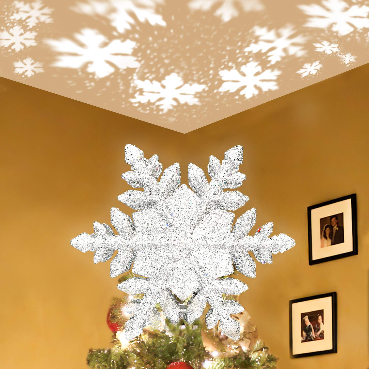 Lanpuly Christmas Tree Topper Star Lighted