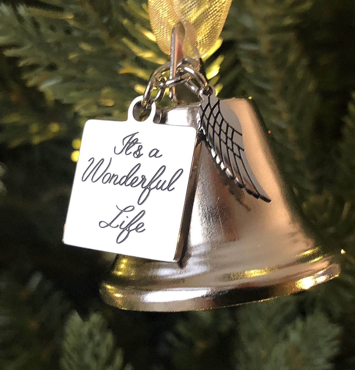 K9King It' a wonderful Life Inspired Christmas Angel Bell