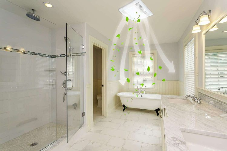 Bathroom Exhaust Fan with Light