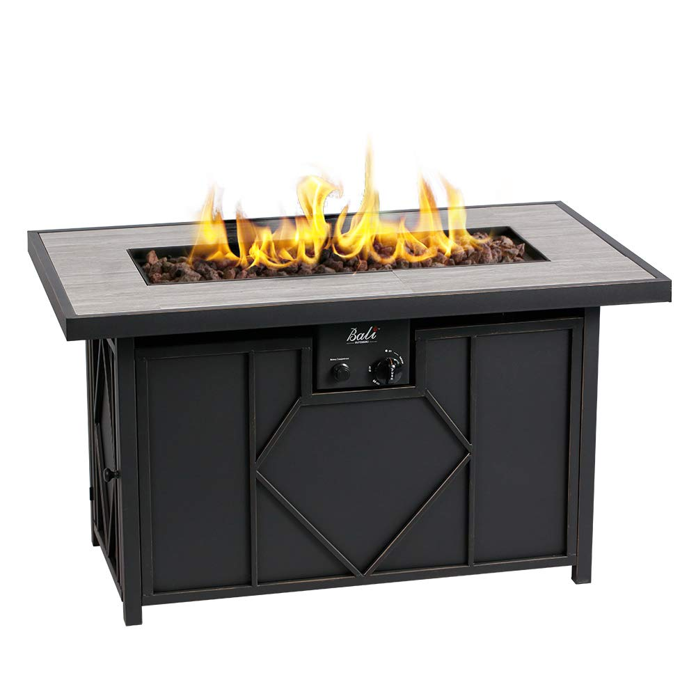 BALI OUTDOORS Fire Pit Propane Gas FirePit