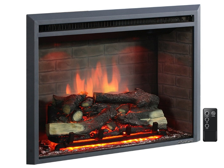 "PuraFlame 33"" Electric Fireplace Insert"