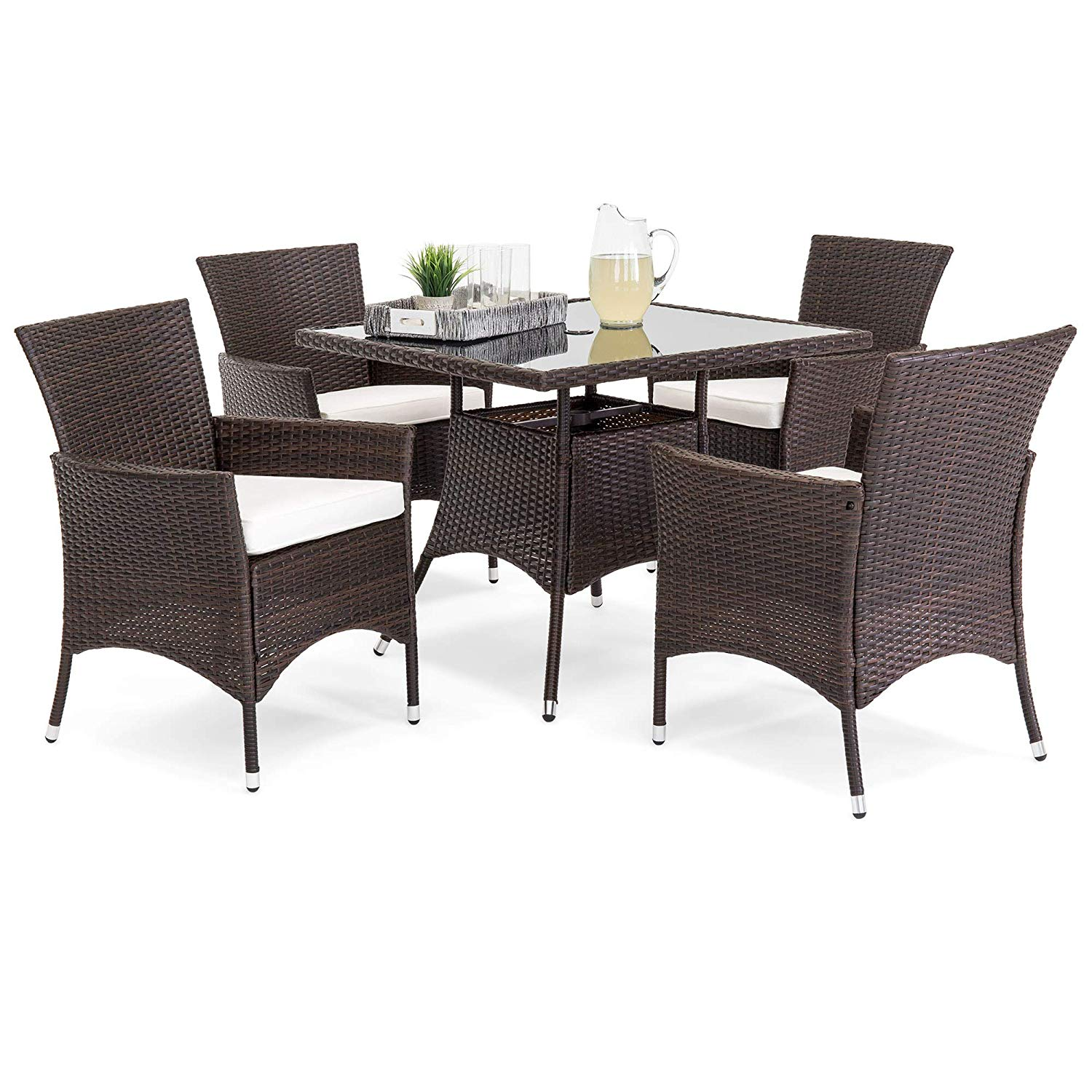 Best Choice Products 5-piece Indoor Outdoor Wicker Patio Dining Set