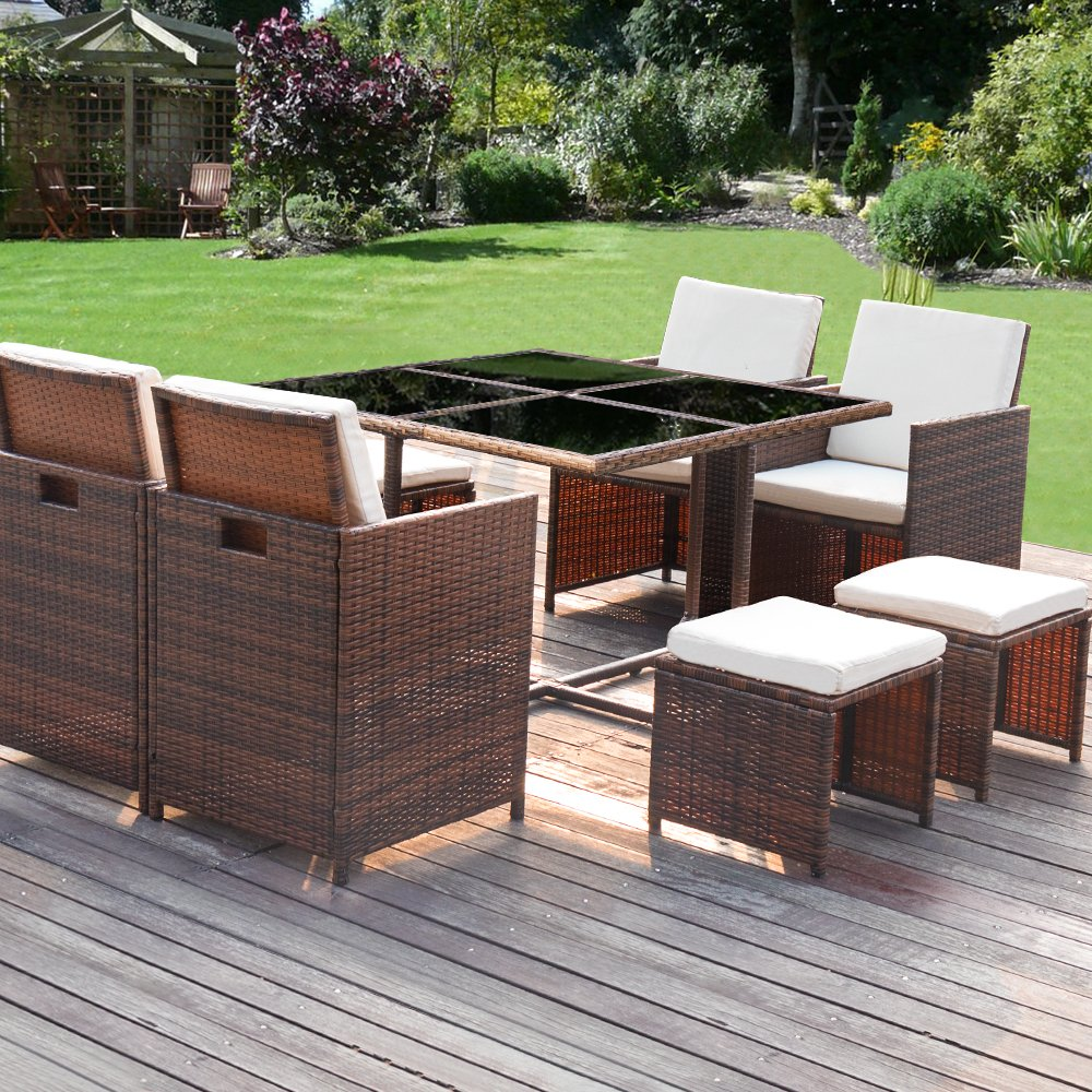 Homall 9-Pieces Patio Dining Sets