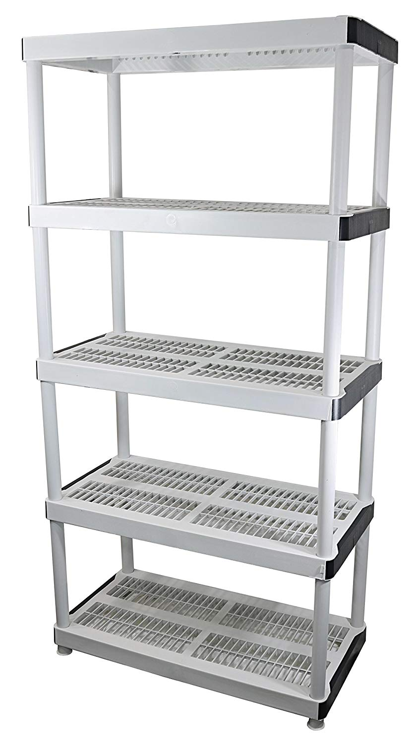 HDX 36 BY 72 5-TIERED Ventilated Plastic Storage Shelving