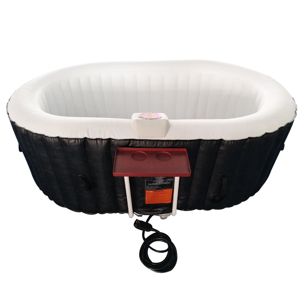 ALEKO HTIO2BKW Oval Inflatable Hot Tub