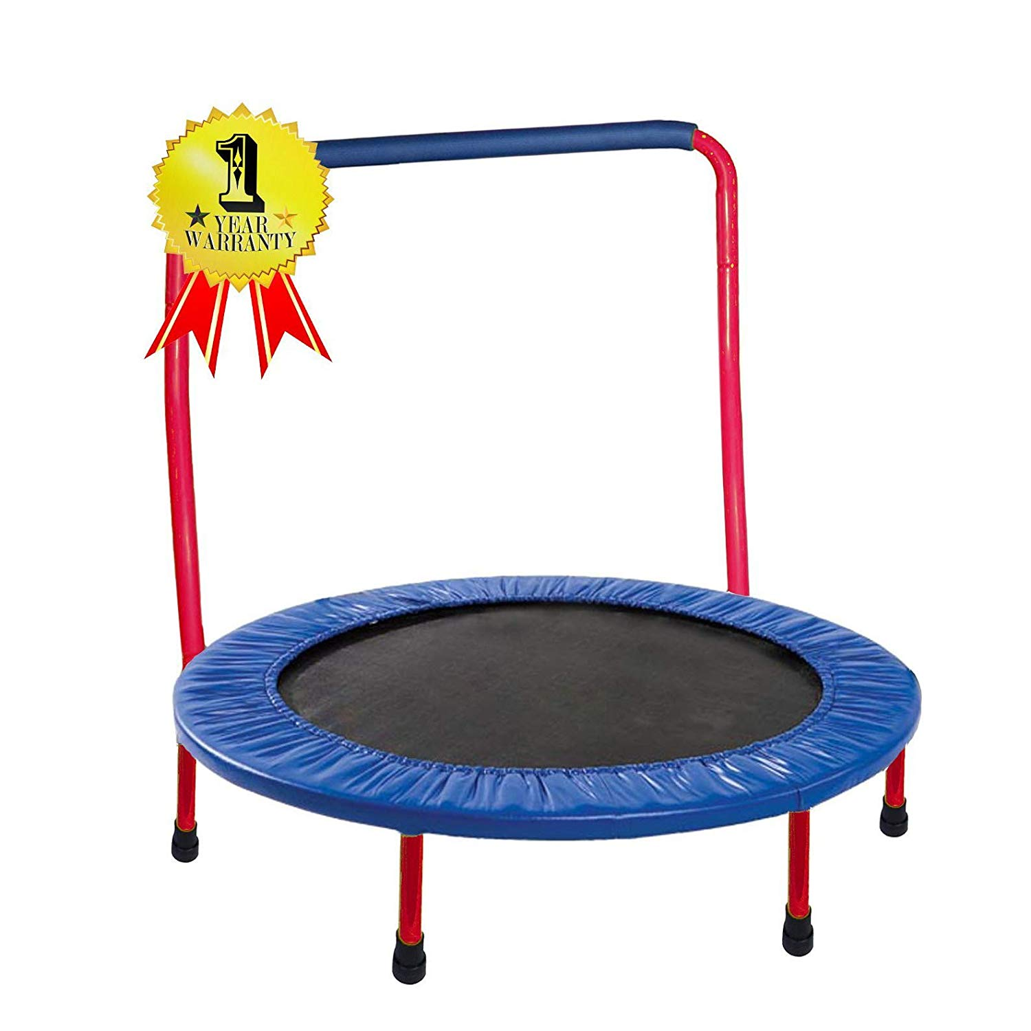 Jumjoe Kids Trampoline- 36 inches with a handlebar, safety portable