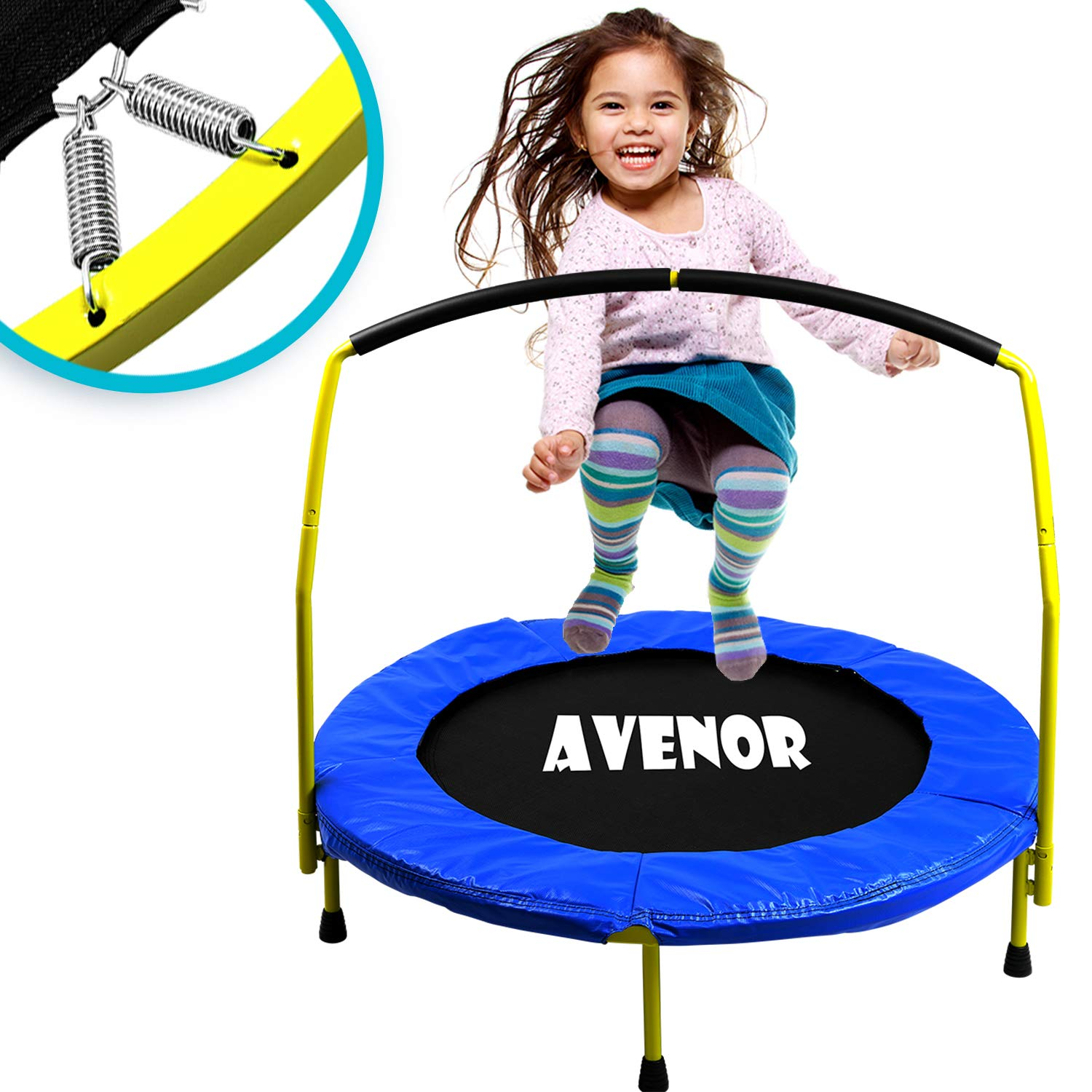 Toddler trampoline with Handle- 36 inches Kids Trampoline