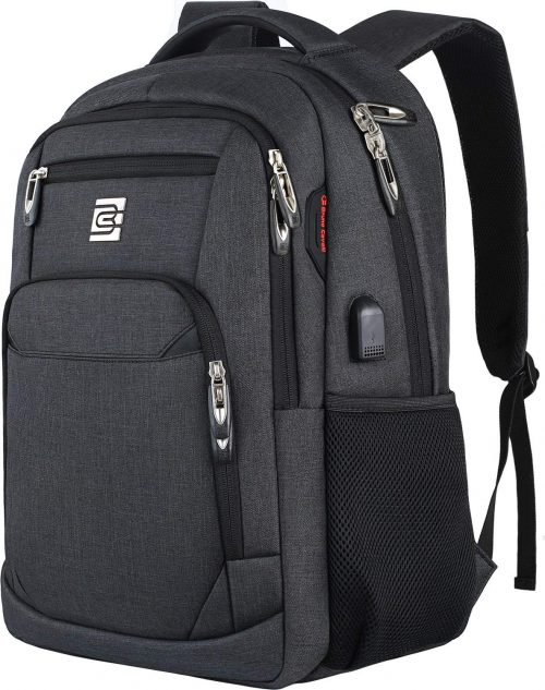 College Backpack with USB charging port