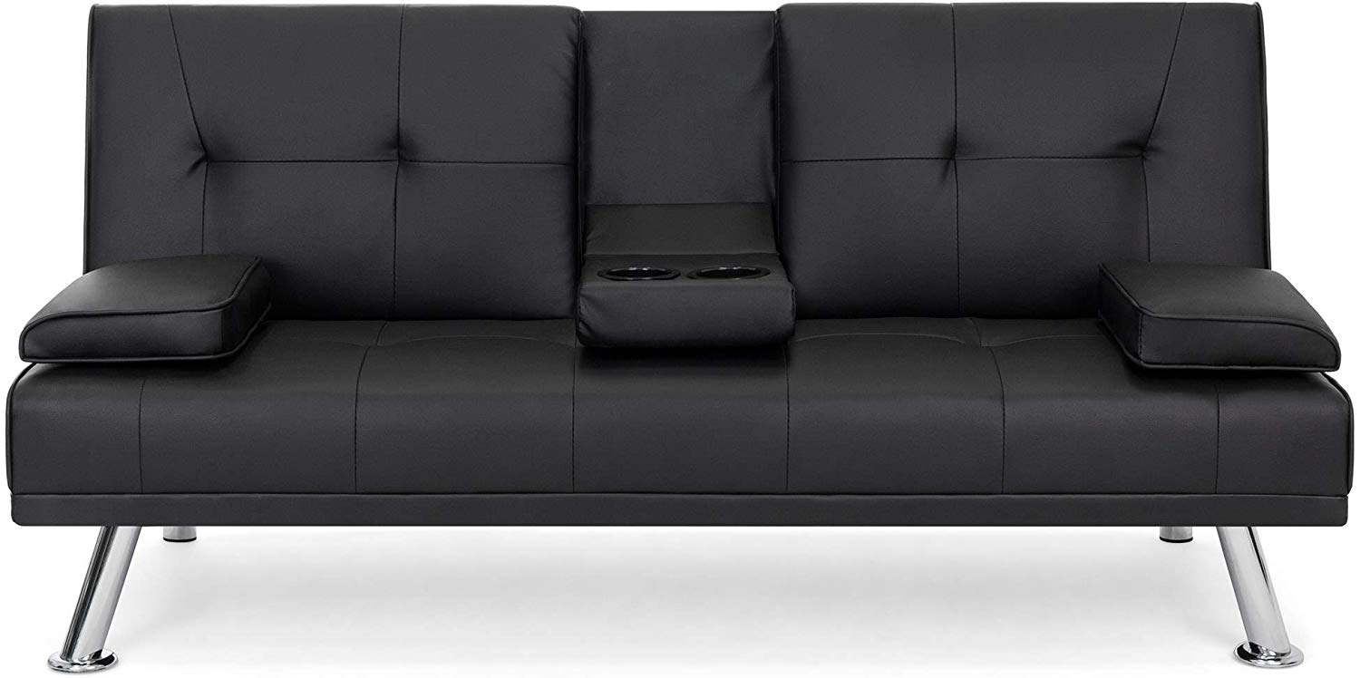 Best Choice Products Modern - Leather Sofa