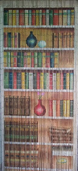 Bookcase Beaded Curtain 125 Strands