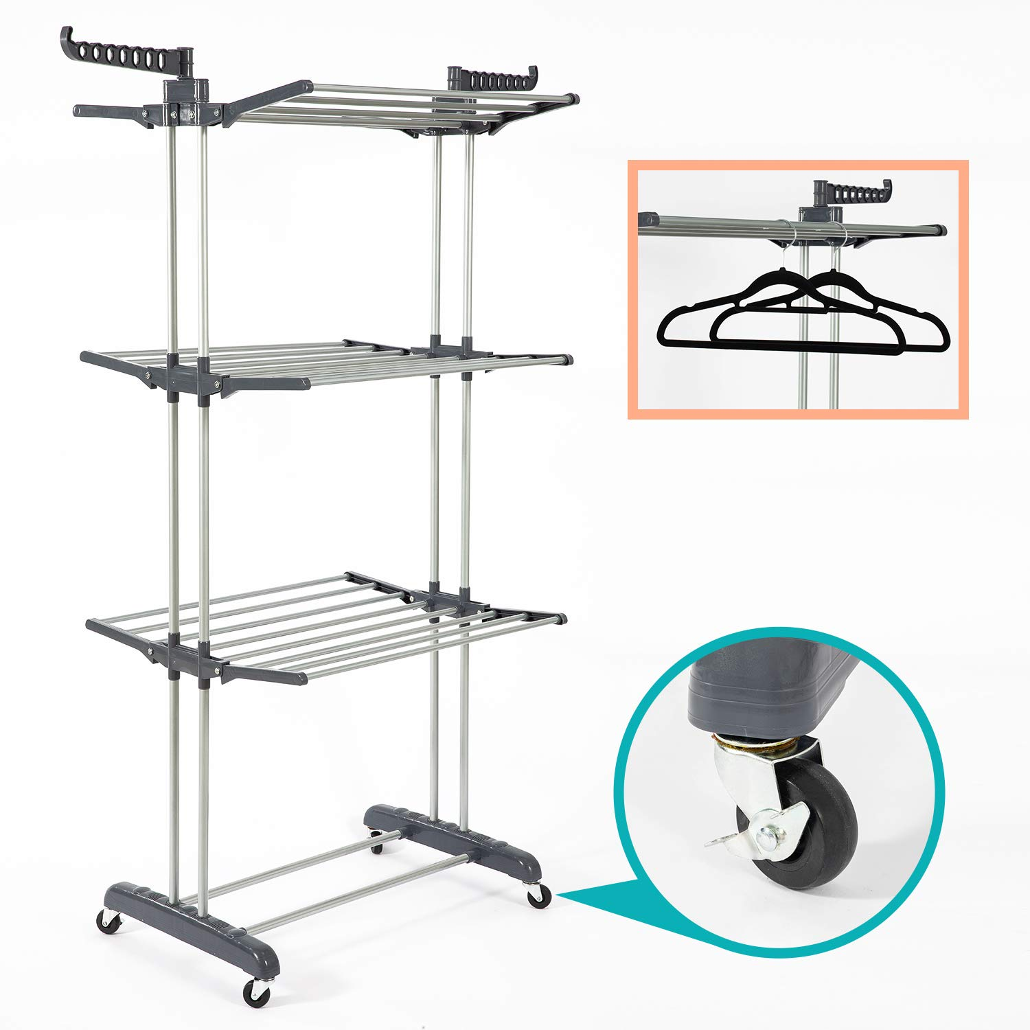 SUPJOO Clothes Drying Rack