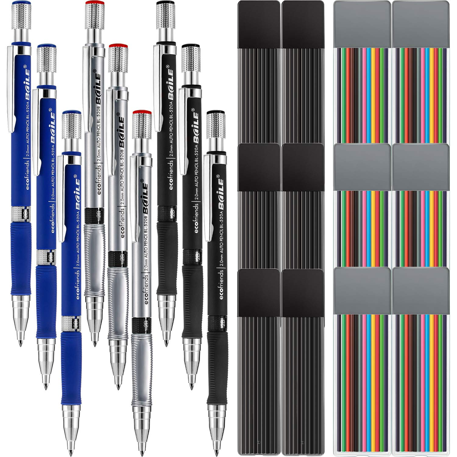Jovitec 21 Pieces 2.0 mm Mechanical Pencil Set