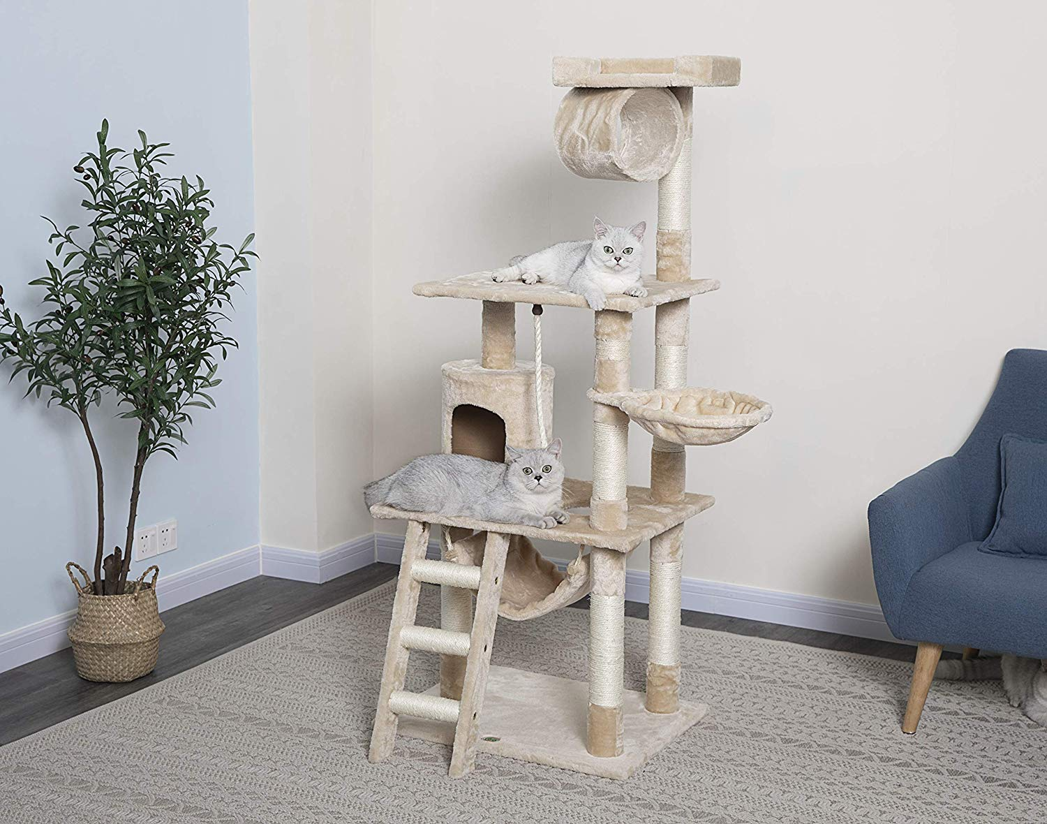 Go pet Club 62- inched Cat Tree