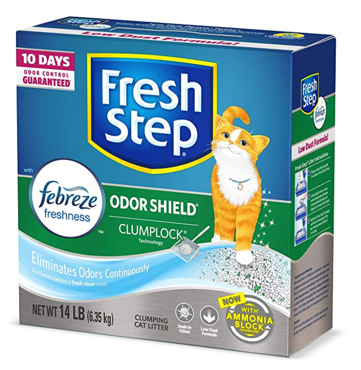 Fresh Step Odor Shield Scented Litter With Power of Febreze