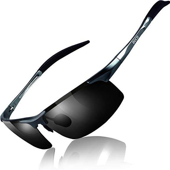 DUCO Mens Sports Polarized Sunglasses-Polarized Sunglasses