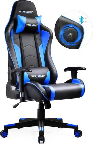 GTRACING Gaming Chair with Bluetooth Speakers Music