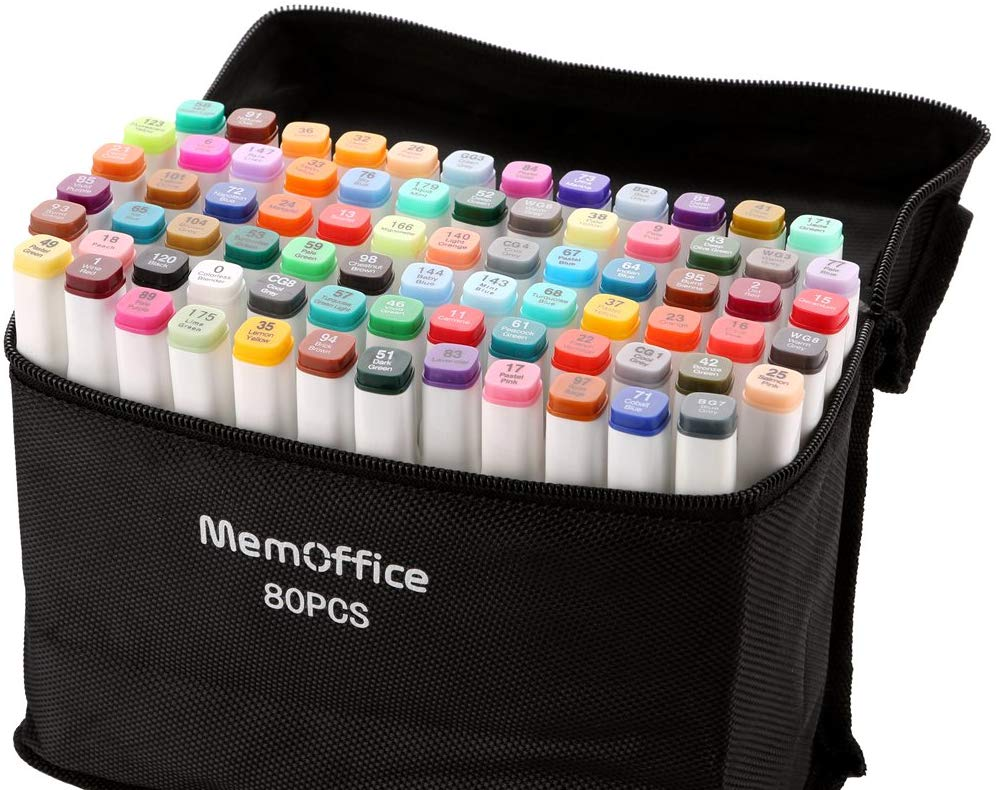 Memoffice 80 Colors Dual Tips