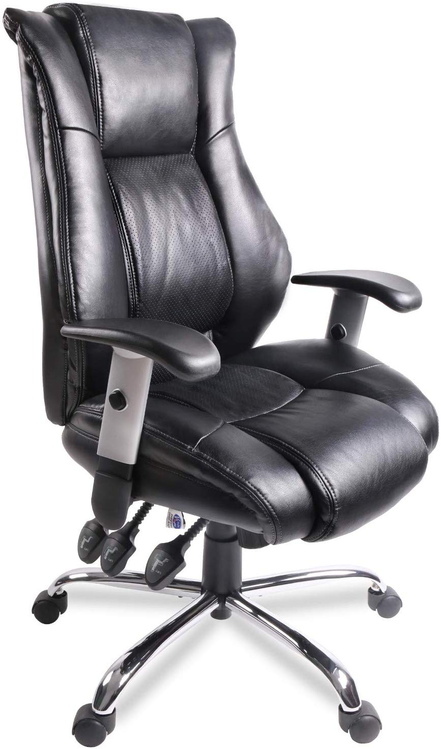 Office Chair Ergonomic Computer Bonded Leather