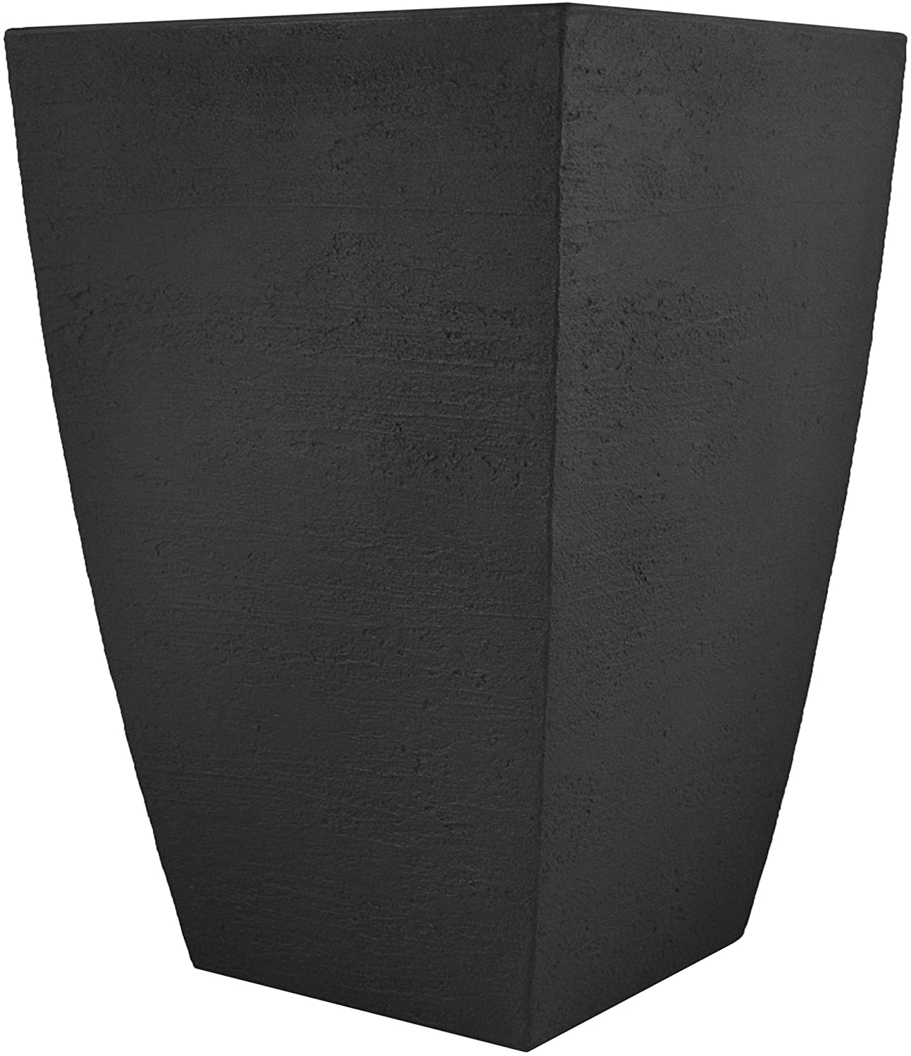 Tusco Products MSQT19BK Modern Square Garden Planter, 19-Inches Tall