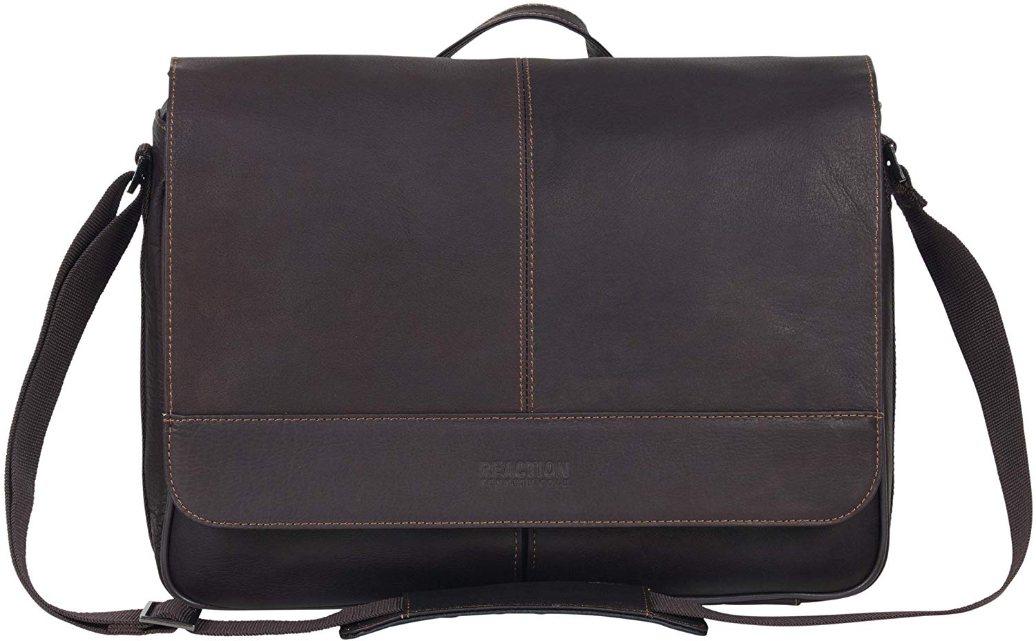 Kenneth Cole Reaction Risky Business Full-Grain Colombian Leather- Leather Bag For Men